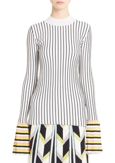 Emilio Pucci Bell Sleeve Rib Knit Sweater