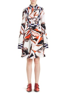 Emilio Pucci Mountain Print Stretch Cady Dress