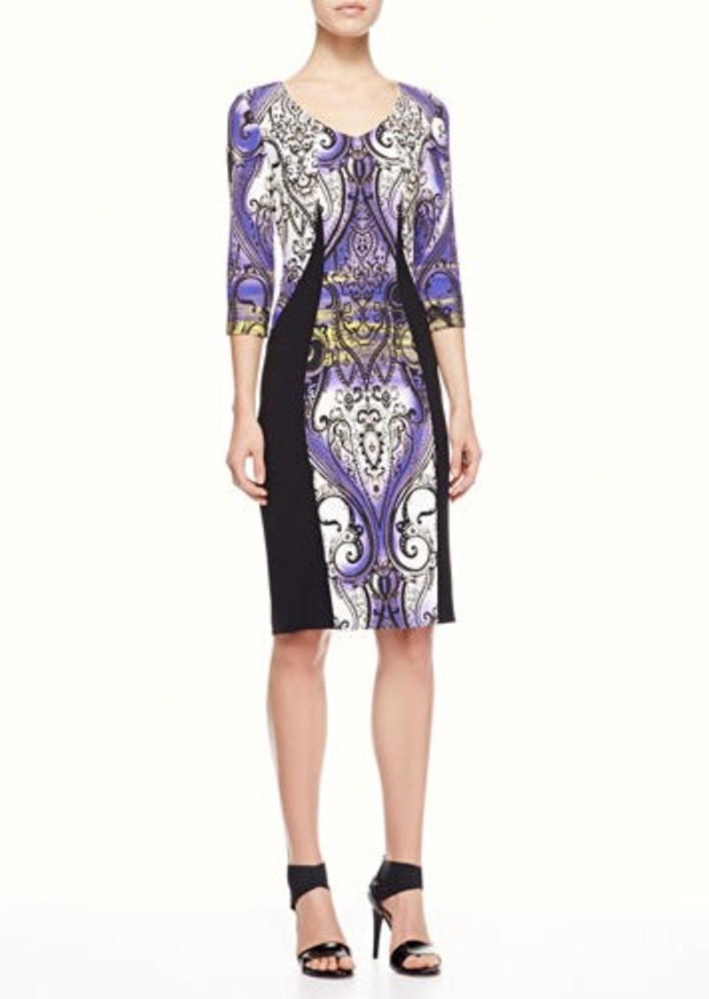 Etro Airbrush Paisley Panel Dress, Purple/Black