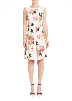 Etro Blossom Washed Tweed Dress