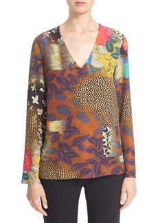 Etro 'Cady' Mixed Print Silk Tunic