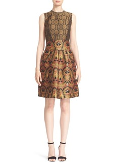Etro Metallic Jacquard Fit & Flare Dress