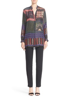 Etro Mixed Print Silk Tunic