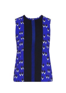 Etro Multi-print sleeveless crepe top