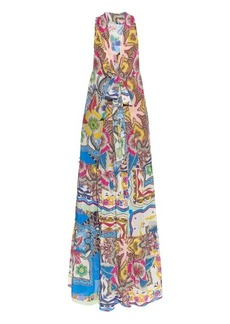 Etro Paisley-print cotton maxi dress