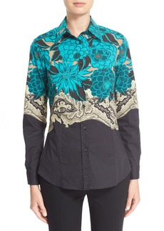 Etro Print Stretch Cotton Top