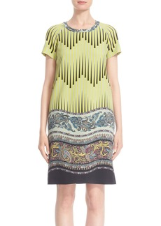 Etro Print Wool Cady Tunic Dress
