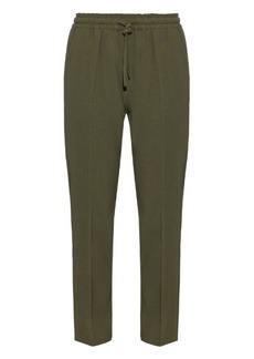 Etro Wool-crepe drawstring waist trousers
