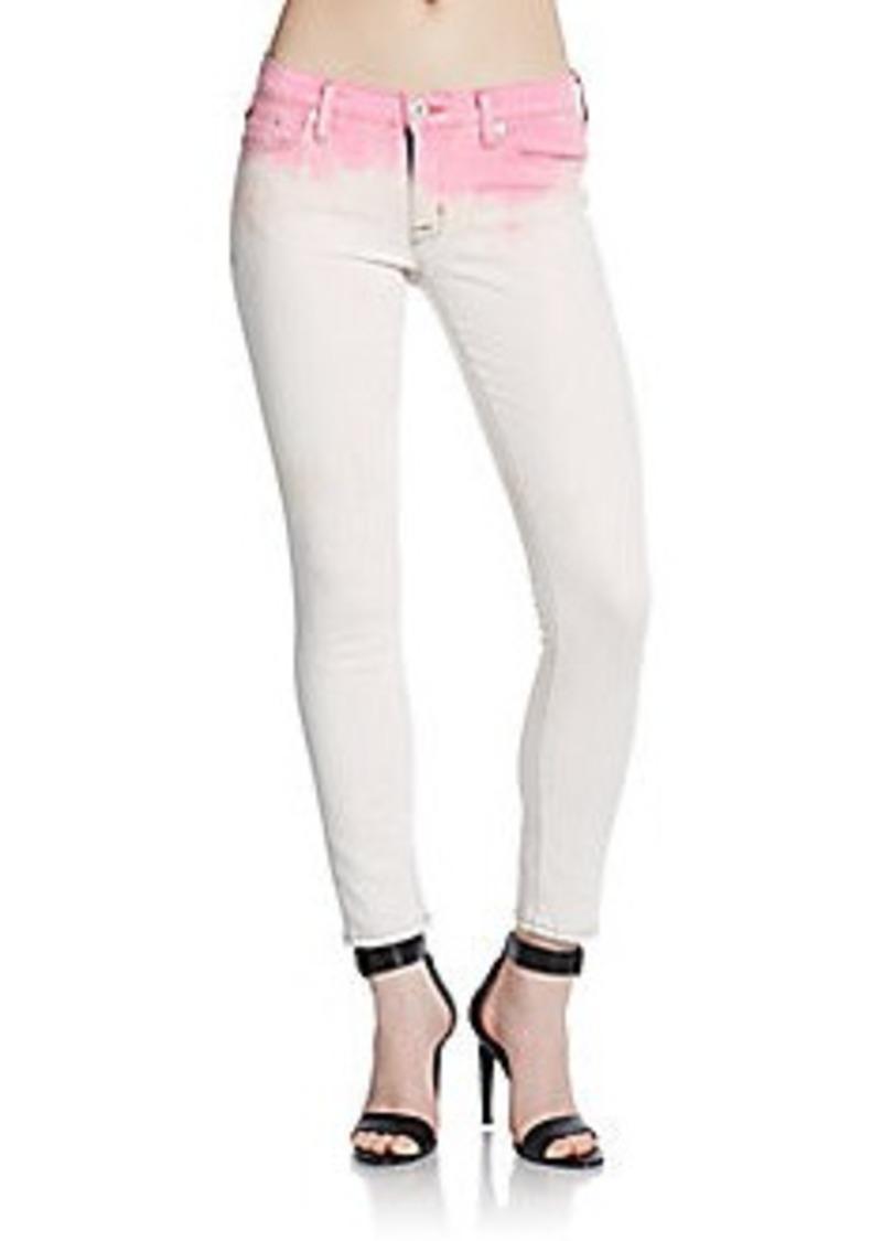 Hudson Jeans Hudson Dip-Dyed Super Skinny Cropped Jeans