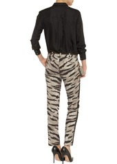 MICHAEL Michael Kors Tiger-print stretch-cotton straight-leg pants