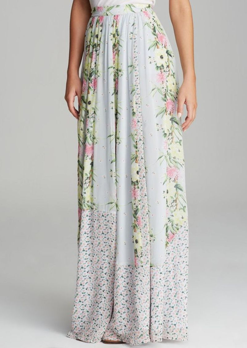 FRENCH CONNECTION Maxi Skirt - Desert Tropicana Chiffon