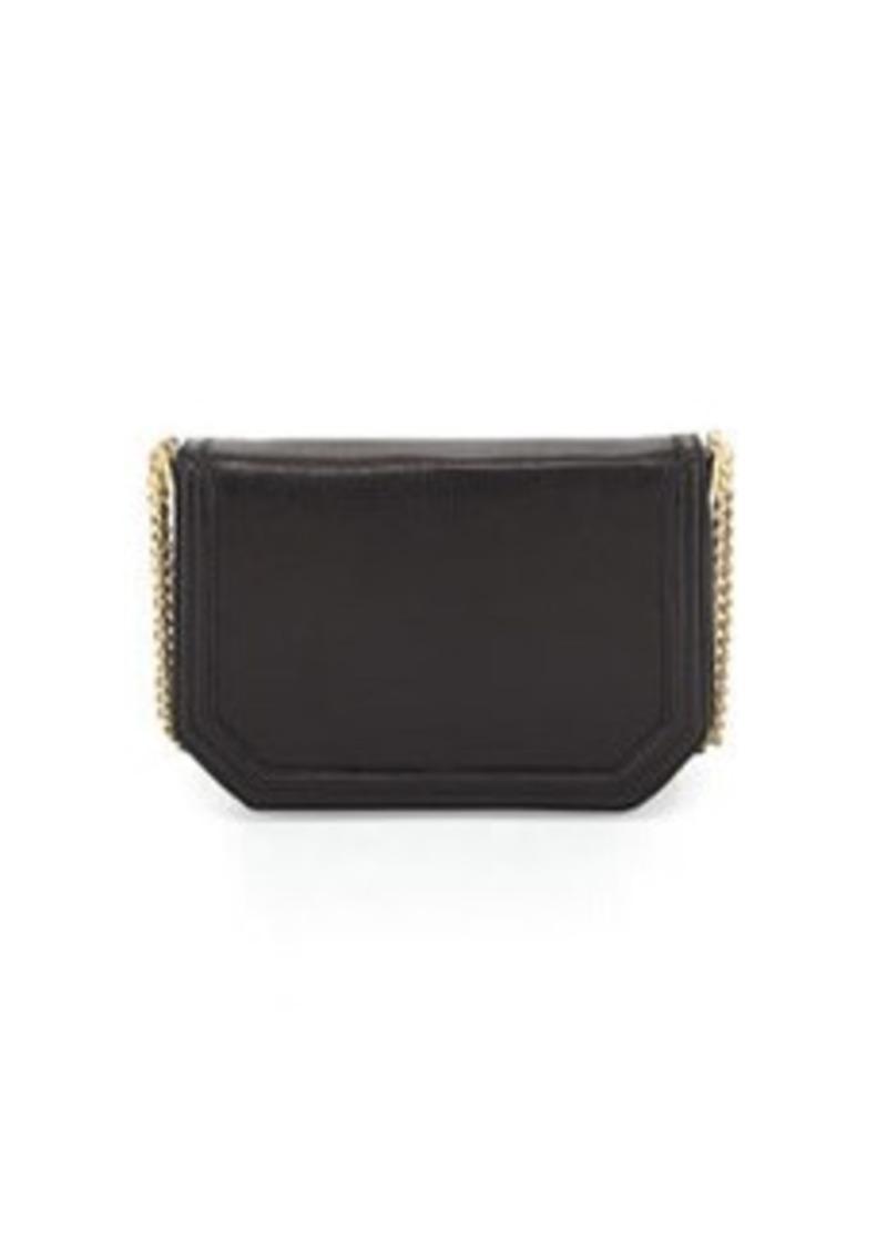 Foley + Corinna Triple-Chain-Strap Flap-Top Shoulder Bag, Black