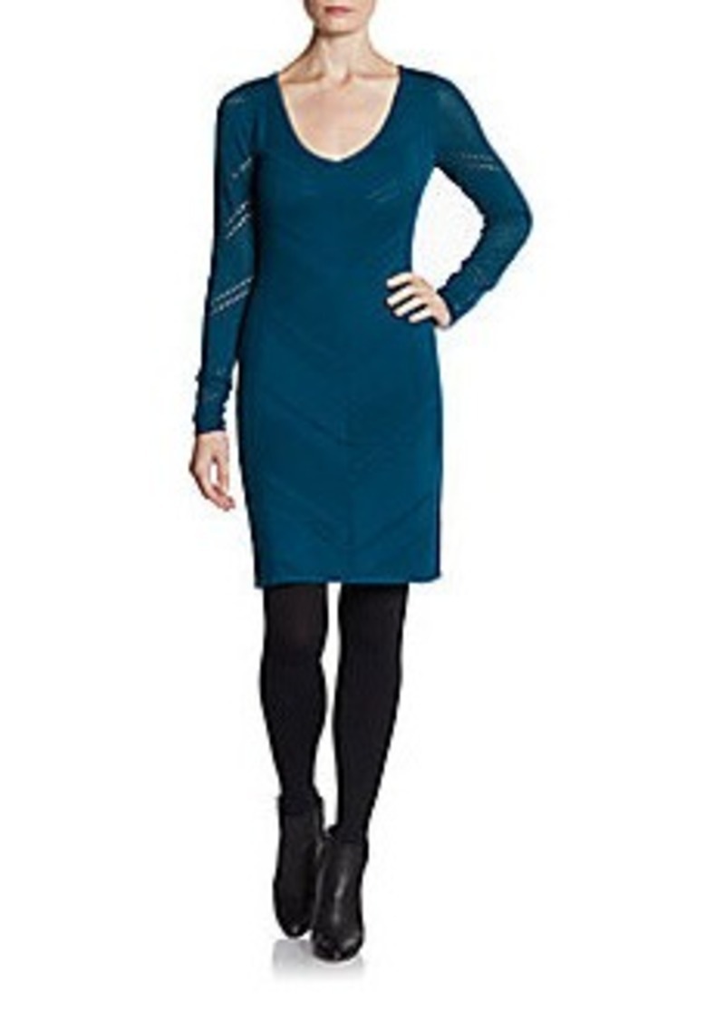 Catherine Malandrino Pointelle Merino Wool Dress