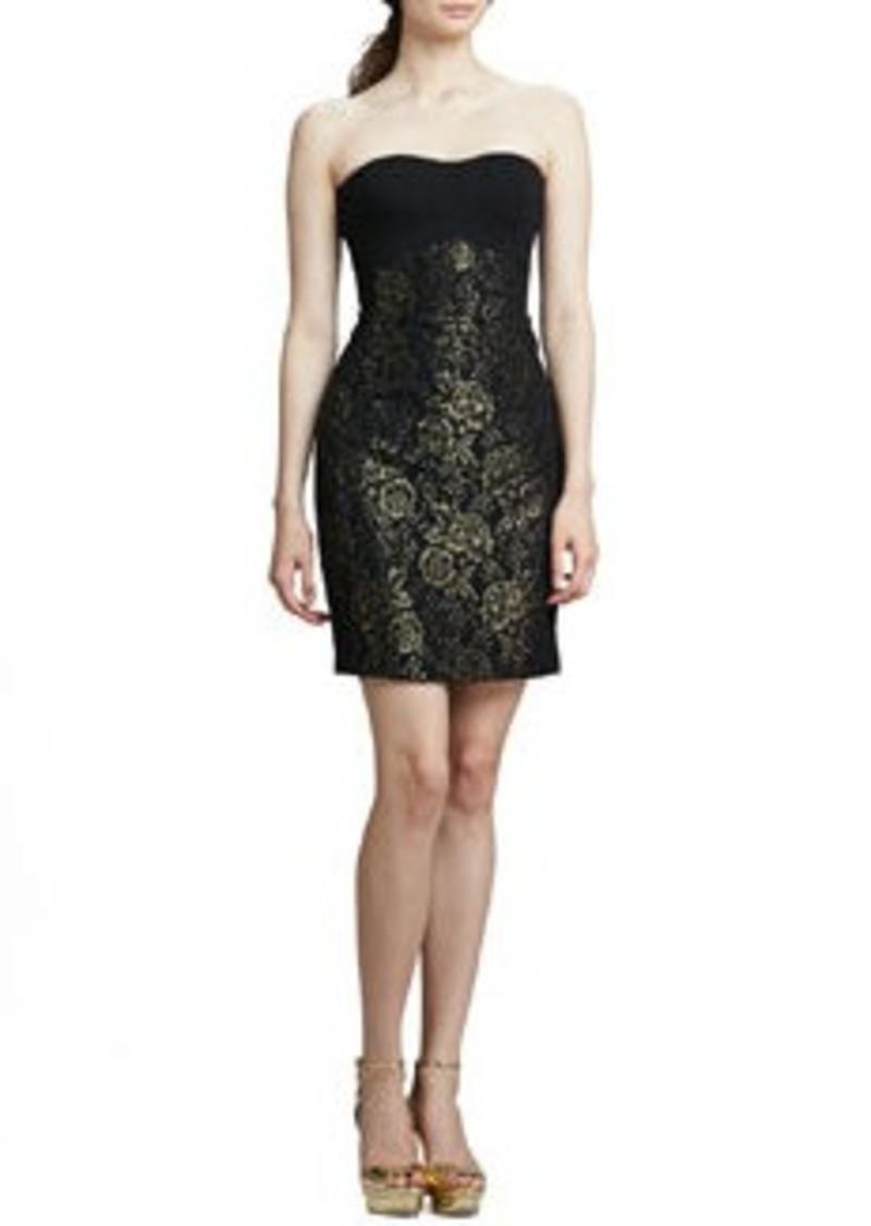 Diane Von Furstenberg Garland Strapless Metallic Dress   Garland Strapless Metallic Dress