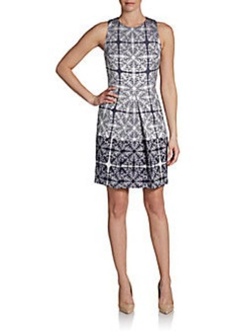 Cynthia Steffe Aniston Abstract Baroque-Print Sheath Dress