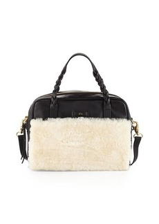 Foley + Corinna Cable Shearling Leather Satchel Bag