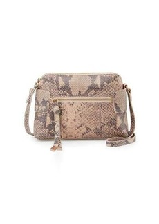 Foley + Corinna Emma Snake-Embossed Leather Crossbody Bag