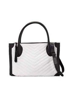 Foley + Corinna Frankie Quilted-Chevron Leather Satchel