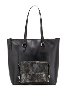 Foley + Corinna Gemini Snake-Embossed Leather Tote Bag