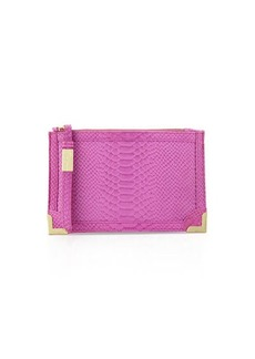 Foley + Corinna Genesis Snake-Embossed Leather Clutch Bag