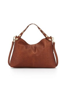 Foley + Corinna Matia Convertible Crocodile-Embossed Satchel Bag