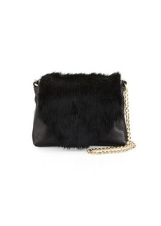Foley + Corinna Stardust Rabbit-Fur Mini Crossbody Bag