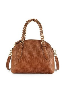 Foley + Corinna Tiggy Snake-Embossed Leather Crossbody Bag