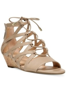 Franco Sarto Brixie Lace-Up Ghillie Demi-Wedge Sandals Women's Shoes