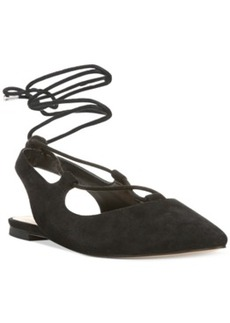 Franco Sarto Snap Lace-Up Ghillie Flats Women's Shoes