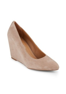 Franco Sarto Woodstock Suede Point-Toe Wedges