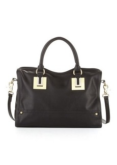 French Connection Arden Faux-Leather Zip Satchel Bag