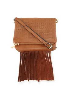 French Connection Bailey Laser-Cut Fringe Crossbody Bag