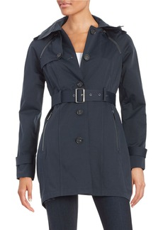 FRENCH CONNECTION Belted Trench Coat
