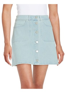 FRENCH CONNECTION Button Front Denim Skirt