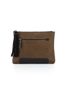 French Connection Camden Colorblock Suede-Tassel Clutch Bag