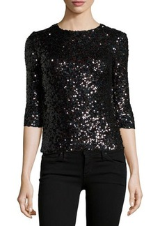 French Connection Cosmic Sparkle 3/4 Sleeve Top