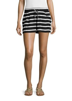 French Connection Drawstring-Waist Stripe Shorts