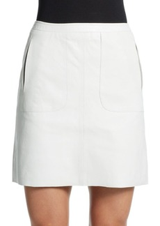 French Connection Eddy Leather Mini Skirt
