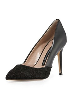 French Connection Elsynn Leather Pointed-Toe Pump
