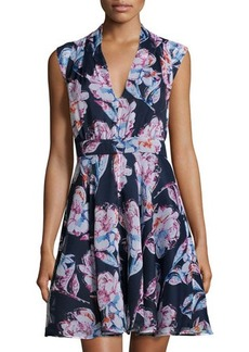 French Connection Floral Sleeveless V-Neck Dress