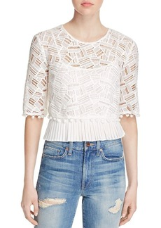 FRENCH CONNECTION Freddy Lace Pom-Pom Crop Top