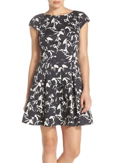 French Connection 'Hatched Horses' Fit & Flare Dress