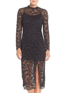 French Connection Illusion Lace Sheath Dress