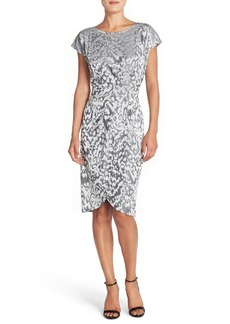 French Connection Jacquard Jersey Sheath Dress