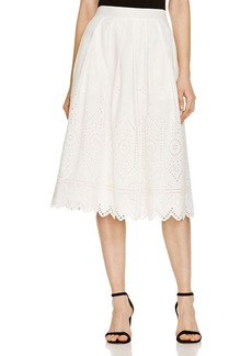 FRENCH CONNECTION Josephine Cotton Eyelet Skirt