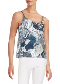 French Connection Lala Palm Leaf-Print Top