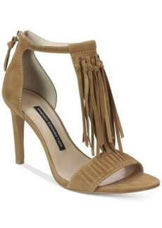 French Connection Lilyana Fringe Dress Sandals Women's Shoes