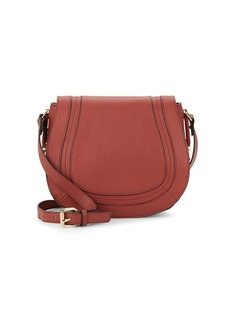 French Connection Liza Faux Leather Crossbody Saddle Bag