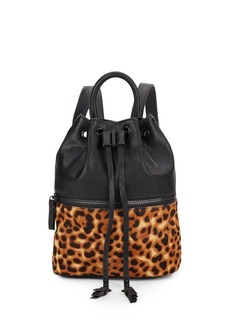 French Connection Mara Calf Hair & Faux Leather Backpack