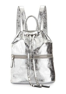 French Connection Mara Metallic Drawstring Backpack